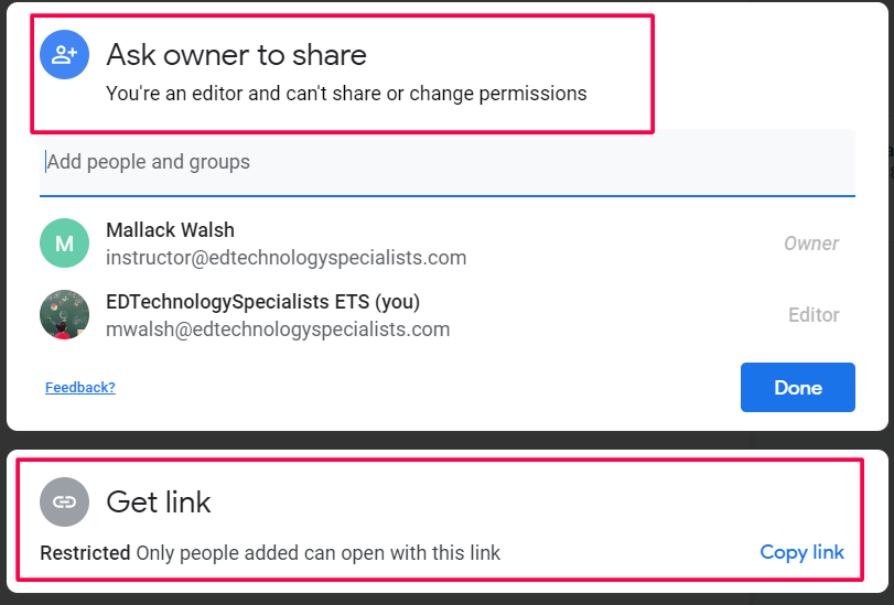 Google Drive Sharing Interface Updated